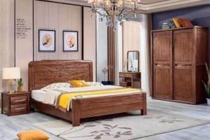 套房家具金丝檀木实木床