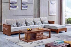 套房家具金丝檀木实木沙发