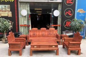 缅甸花梨客厅沙发喜从天降厂家批发价格