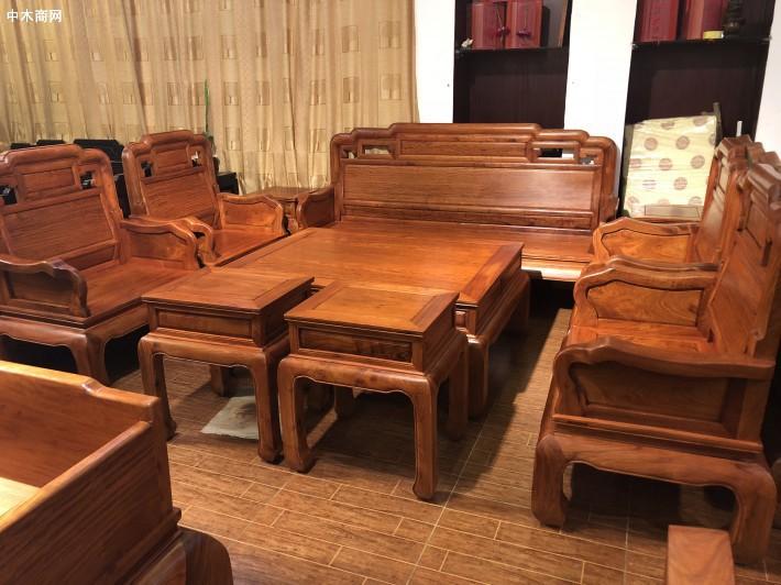 2019年小象头如意缅甸花梨客厅沙发的价格