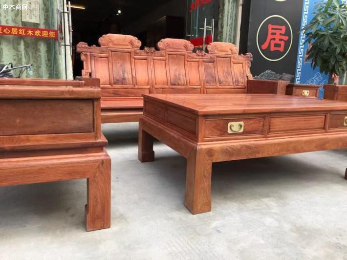 缅甸花梨客厅沙发喜从天降厂家批发价格品牌