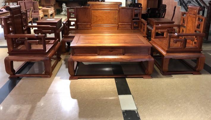 2019年小象头如意缅甸花梨客厅沙发的价格一直是红木沙发里面最实惠的