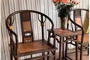 大红酸枝圈椅细节视频