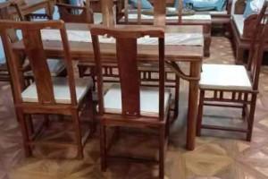 刺猬紫檀明式长方形餐桌椅子厂家直销