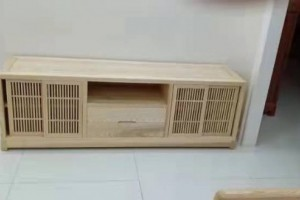 1.9米白蜡木电视柜
