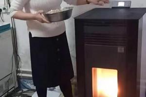 全自动生物质颗粒取暖炉视频