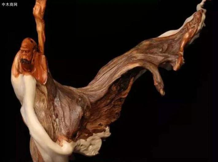 乐清黄杨木雕,是以黄杨木为材料的一种圆雕艺术