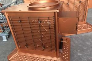 宜昌烤火炉生产厂家金色液压炉体装车视频