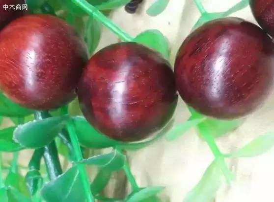 染料紫檀(赞比亚血檀)手串
