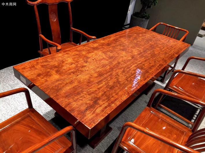 巴西花梨实木大板七件套厂家