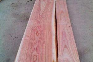 血椿木板材也叫红椿木烘干板材是香椿木中的极品
