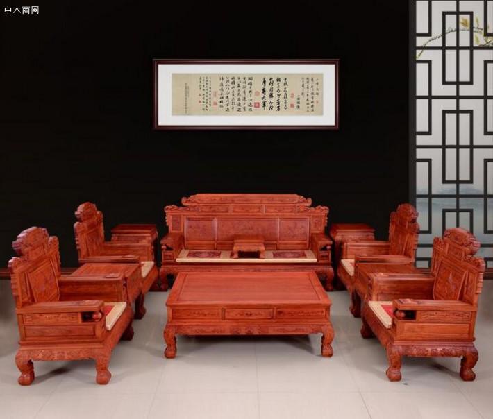 缅甸花梨木红木家具价格——做工
