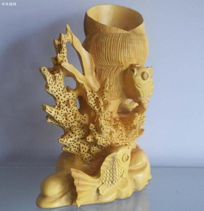 黄杨木的成品通常是小件圆形雕塑