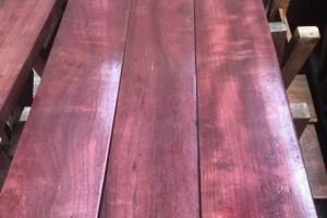 南美紫心木烘干板材现货