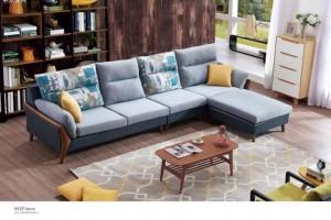 白蜡木布艺沙发