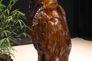 典尚木业楠木根雕摆件招财进宝实木工艺品人物弥勒佛风水装饰品