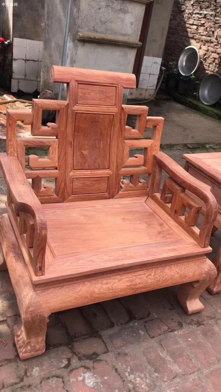 大富贵缅甸花梨木沙发图片