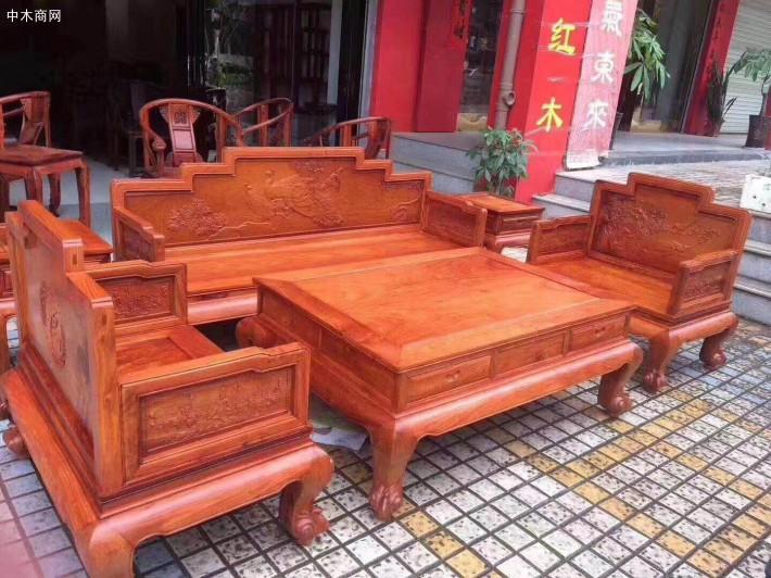 缅甸花梨木沙发图片