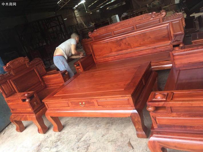 缅甸花梨木沙发价格