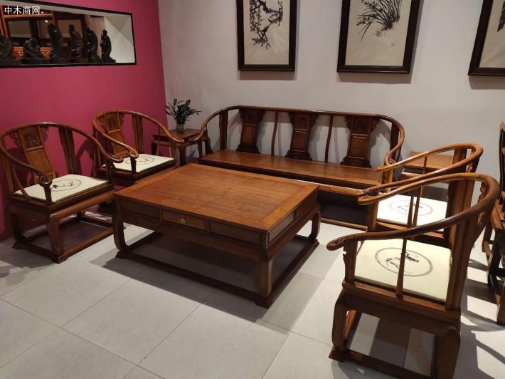 缅甸花梨红木沙发