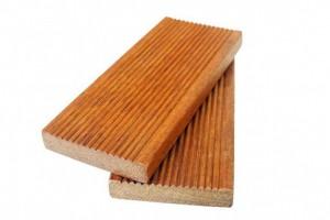 印尼菠萝格地板户外防腐木,防滑槽实木庭院平台硬木板