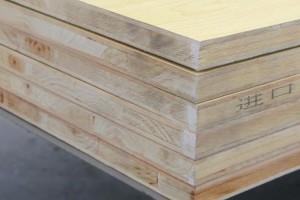 17mm杉木暖白生态板德万家品牌