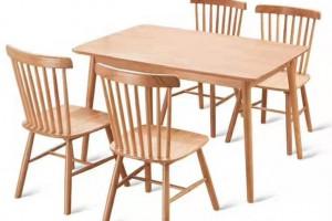 名美轩北欧餐桌,餐椅实物高清图片