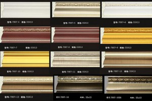 厂家直销欧式装饰线条,实木线条门套线,橱柜顶线衣柜罗马柱