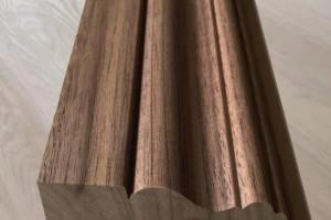 高温热压贴皮门套线,可贴任何天然木皮黑胡桃门套线