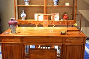 仿古红木家具大叶黄花梨2件套明式办公桌厂家供应