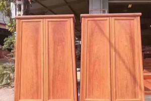 苏作明式家具,缅甸花梨木素面圆角柜面条柜木趣居220-196-50