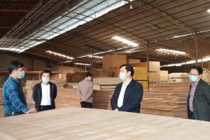 满洲里市胪膑社区有序做好木业园区复工复产工作