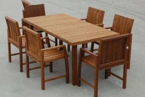 精品户外竹木桌椅样式新颖美观大方