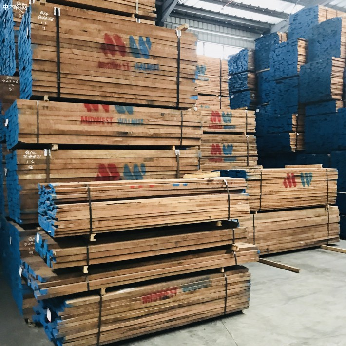 东莞市大岭山晋隆木业美国黑胡桃木板材高清图片价格