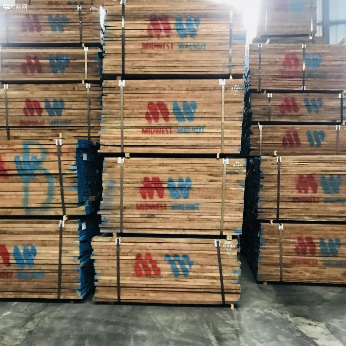 东莞市大岭山晋隆木业美国黑胡桃木板材高清图片厂家