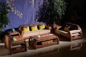 东阳市鲁创红木家具刺猬紫檀沙发高清图片