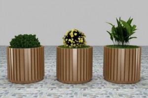 户外花箱花盆,防腐木花箱花盆,定制木质种植箱室