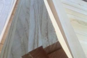 白椿木拼板,白椿木指接板热压处理蒸汽烘干