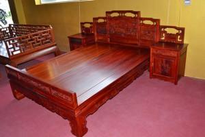 红酸枝大床红木家具厂家直销