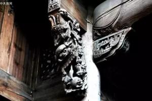 中国古建筑构件之美:雀替和牛腿的区别,你分得清楚吗?
