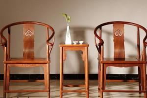 缅甸花梨木圈椅高清细节视频