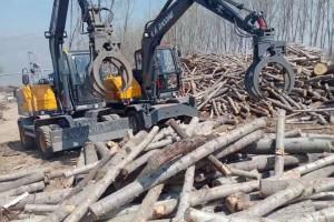 德州宝鼎液压机械抓木机施工视频