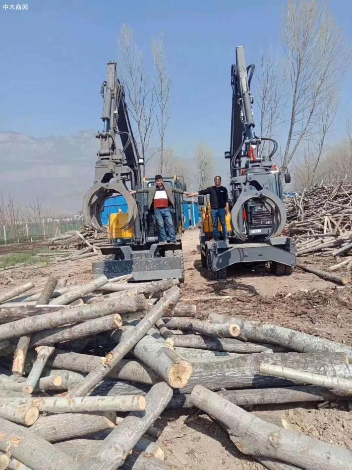 德州宝鼎液压机械抓木机施工视频厂家