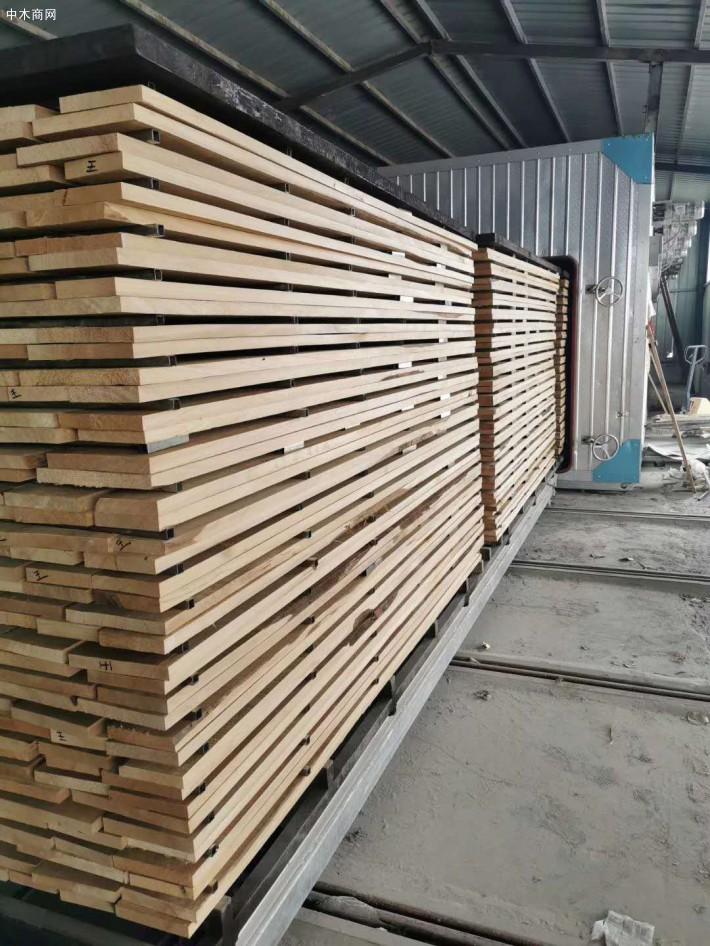 碳化杨木直拼板烘干流程视频
