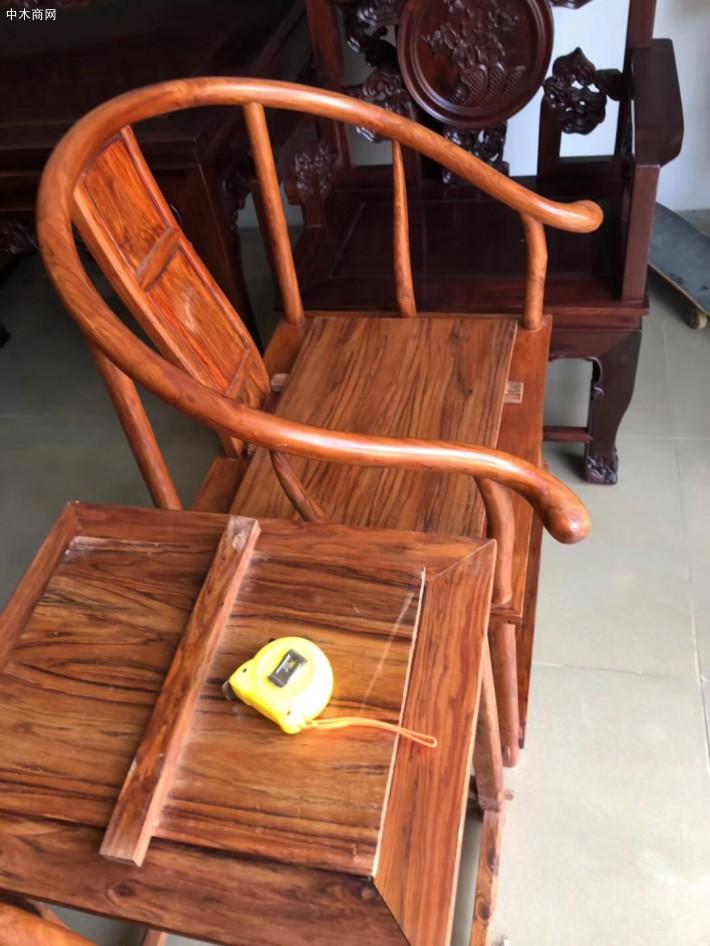 越南黄花梨圈椅3件套多少钱细节图在线高清视频图片