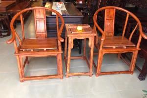 越南黄花梨圈椅3件套多少钱细节图在线高清视频