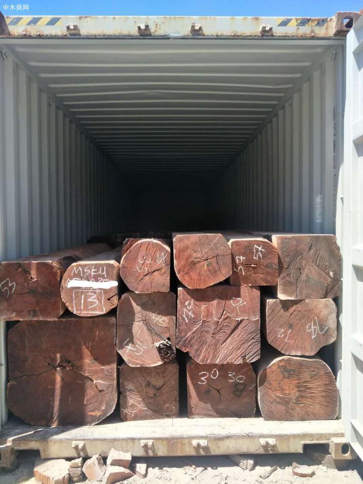 浙江宁波九禾景观木业有限公司非洲白酸枝虎斑檀原木大方原产地直销价格