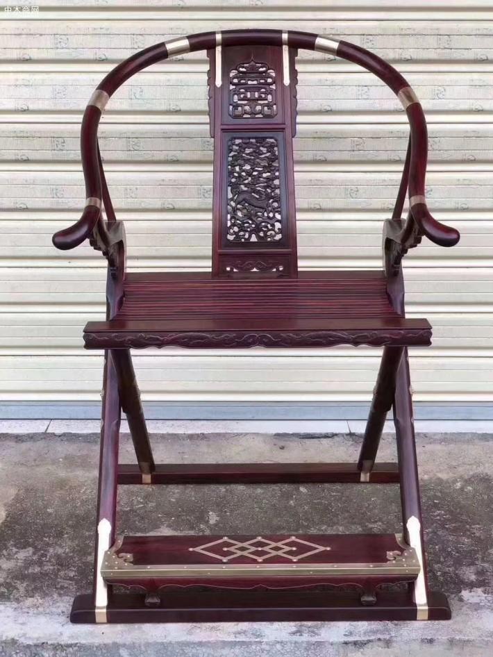 印度小叶紫檀交椅生产厂家细节图介绍