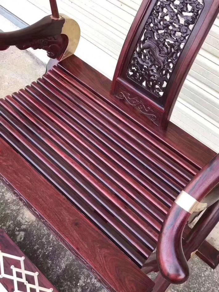 印度小叶紫檀交椅生产厂家细节图介绍采购
