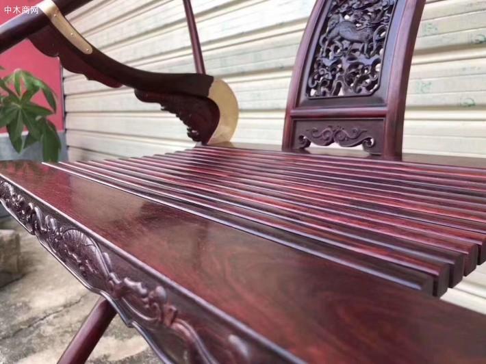 印度小叶紫檀交椅生产厂家细节图介绍品牌